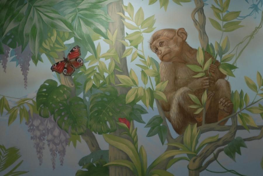 Индийский пейжал для росписи стен от творческой мастерской Круг, Киев