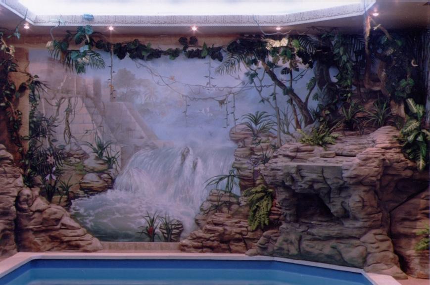 Роспись стен пейзаж (джунгли) от мастерской Круг