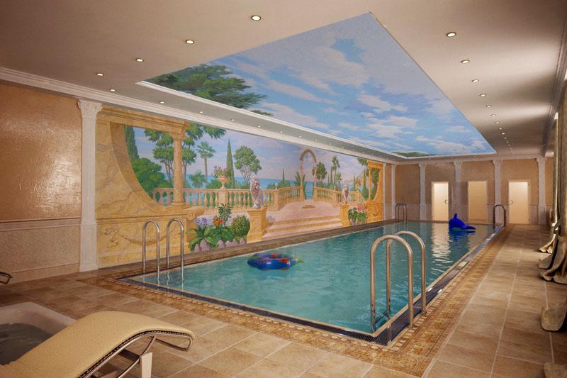 Роспись стен в бассейне