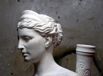 Скульптура на заказ в Киеве. Скульптура греческой богини Дианы, творческая мастерская Круг