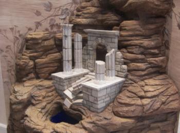 Декор стен: декорации с элементами античной архитектуры. Киев, мастерская Круг