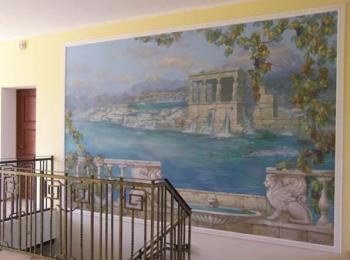 Роспись стен в холле (стиль — Греция), Киев. Выезжаем в другие города.