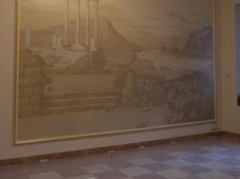 Художественная роспись стены в столовой, Киев, мастерская Круг