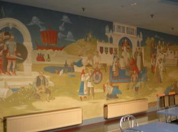 Декоративная роспись кафе-бара Энеида, Киев