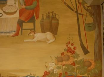 Декоративная роспись кафе-бара Энеида (фрагмент 2), Киев, Украина