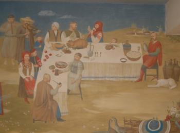 Интерьерная роспись кафе-бара Энеида (фрагмент 3), Киев, творческая мастерская Круг