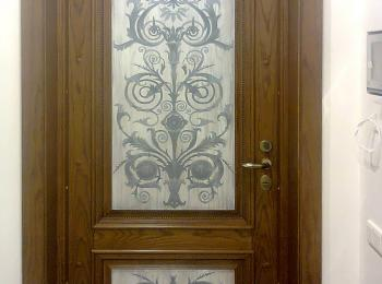 Роспись шкафа, двери