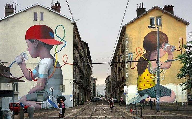 Мурал - рисунок на стене здания с уличной стороны