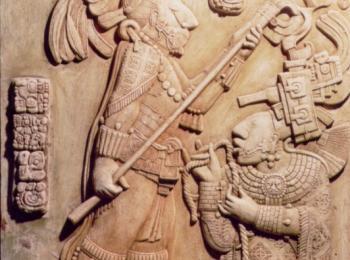 Настенный барельеф: копия рельефа индейцев майя. Творческая мастерская Круг, Киев.