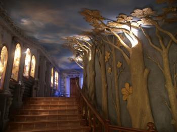 Художественная фактурная покраска стен: ресторана в Полтаве. Творческая мастерская Круг