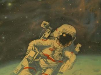 Роспись в детской(Космос ,Фрагмент-1)